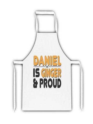 Personalised Ginger & Proud Funny Novelty White Adult Apron